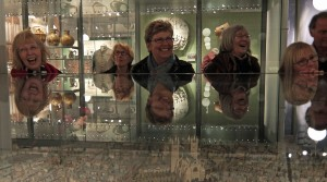 Marilyn Barnard, Val Barnecutt, Sandra Verran and Ros Prigg have a laugh while looking at a model of Exeter