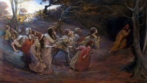 'The Pied Piper of Hamelin' by Elizabeth Adela Forbes, c1900
