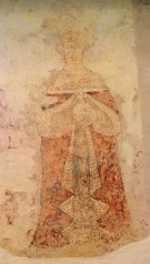 Medieval wall painting of Henry VI at Breage Church