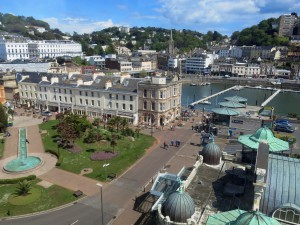 Torquay, seen from high above  on the English Riviera Wheel.