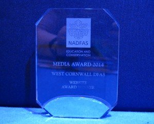 Ta-dah! Our award and the first addition  to the West Cornwall DFAS trophy case.