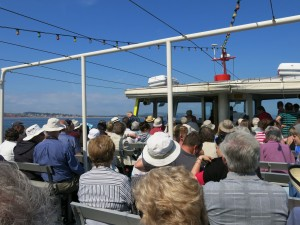 On board the SS NADFAS for a cruise  around the Jurassic Coast.
