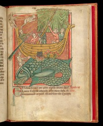 A whale mistaken for an island, southern England, 2nd quarter of the 13th century (British Library)