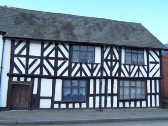Black and white timber-framed house, Leominster